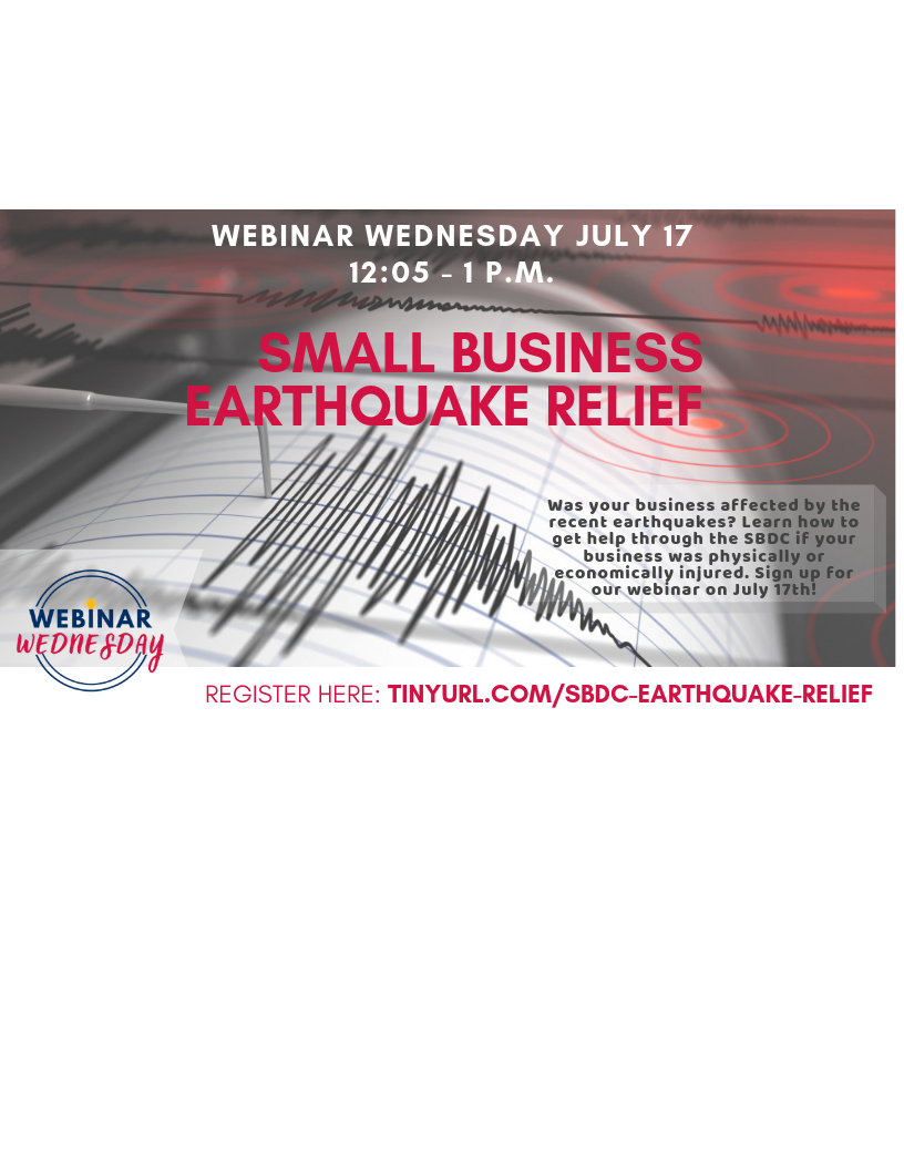 Small Business Earthquake Recovery / Relief Webinar