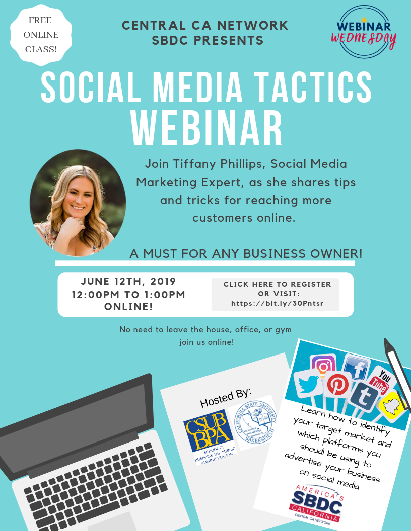 Social Media Expert Tiffany Phillips is teaching an online webinar class about marketing small business online. A tactic that can increase your customer base.